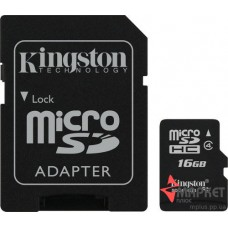 Карта пам'яті Kingston MicroSDHC 16 Gb С4 + SD